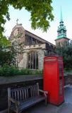 历史所有尊敬由这塔或圣玛丽维尔京或全部尊敬咆哮- Byward的一座古老英国国教的教堂 免版税库存照片