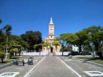 历史教会在Quissama市,里约热内卢巴西 库存照片