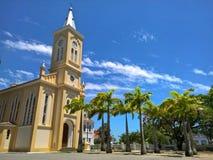 历史教会在Quissama市,里约热内卢巴西 库存图片