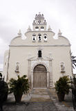 历史教会词条和门面梅里达,墨西哥 免版税库存图片