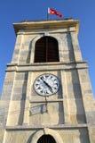 历史时钟在Katamonu,土耳其 免版税库存图片