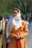 历史服装的妇女 免版税库存图片