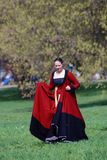 历史服装的妇女 库存照片