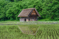 历史村庄白川町去 白川町去是其中一个日本` s位于岐阜县的联合国科教文组织世界遗产名录站点 库存图片