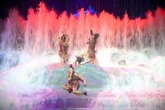 洪水--历史样式歌曲和舞蹈戏曲不可思议的魔术-淦Po 库存图片