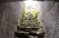 历史楼梯 免版税库存图片