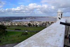 历史殖民地堡垒在蒙得维的亚 免版税图库摄影