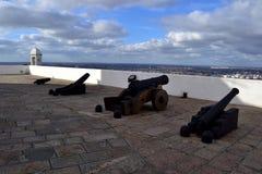 历史殖民地堡垒在蒙得维的亚 库存照片