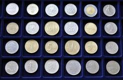 历史汇集硬币 库存照片