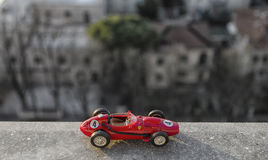 历史汽车比例模型  图库摄影