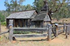历史澳大利亚移居者学校房子 免版税库存照片