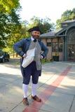 历史爱国者Reenactor,波士顿,美国 免版税库存图片