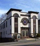 历史犹太教堂在汤顿,马萨诸塞 免版税库存图片