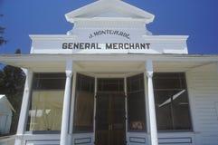 历史百货商店,杰克逊,加州 免版税库存照片