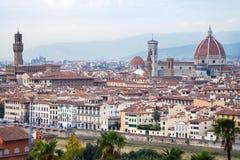 历史的中心佛罗伦萨市看法  库存图片