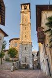 历史的中心,索姆马隆巴尔多,意大利 大教堂桑特'阿涅塞1665公元 免版税图库摄影