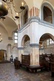 历史的伟大的犹太教堂大厦的内部 库存图片