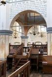 历史的伟大的犹太教堂大厦的内部 库存照片