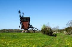 历史的传统风车 库存照片