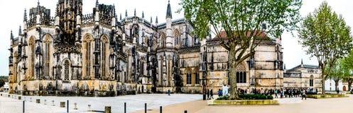 历史的修道院在Batalha,葡萄牙 库存照片