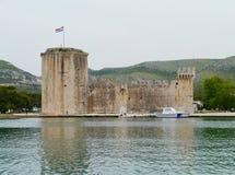 历史的克罗地亚人Kamerlengo堡垒在特罗吉尔 库存图片