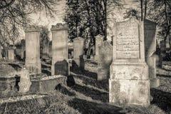 历史的公墓(18世纪) -波兰 免版税库存照片