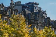 历史的公寓格拉斯哥,苏格兰 库存图片