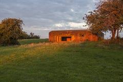 历史的军事结构在农村英国 图库摄影