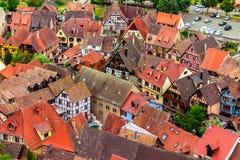 历史的凯塞尔斯贝尔的鸟瞰图 免版税库存图片