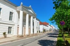 历史的剧院在普特布斯,鲁根岛,德国 免版税库存照片