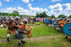 历史的北欧海盗节日 库存照片
