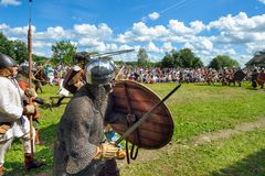 历史的北欧海盗节日 免版税库存照片