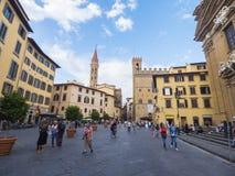 历史的区佛罗伦萨-佛罗伦萨/意大利- 2017年9月12日 库存图片