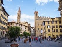 历史的区佛罗伦萨-佛罗伦萨/意大利- 2017年9月12日 免版税库存图片