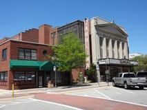 历史的卡罗来纳州剧院在格林斯博罗,北卡罗来纳 免版税库存照片