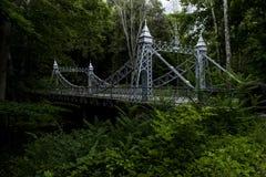 历史的吊桥-磨房小河公园, Youngstown,俄亥俄 库存图片