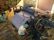 历史的哈里斯斜纹花呢磨房织布机 库存图片