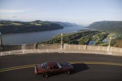 历史的哥伦比亚河高速公路,俄勒冈 库存图片