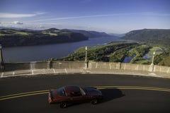 历史的哥伦比亚河高速公路,俄勒冈 免版税库存图片