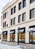 历史的商业大厦在冬日 库存图片