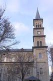 历史的圣保罗教会和尖沙咀钟楼  免版税库存照片
