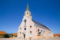 历史的圣安` s罗马天主教堂在Noord阿鲁巴 免版税图库摄影