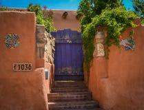 历史的圣菲新墨西哥 库存照片