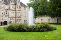 历史的城堡在代特莫尔德行政区镇  库存图片