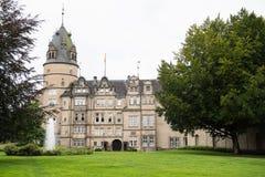 历史的城堡在代特莫尔德行政区镇  免版税图库摄影
