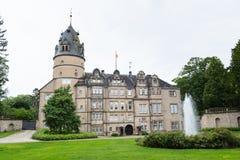 历史的城堡在代特莫尔德行政区镇  库存照片