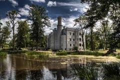 历史的城堡在Karpniki,波兰 免版税图库摄影