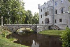 历史的城堡在Karpniki,波兰 库存图片