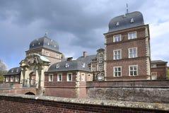 历史的城堡阿豪斯在西华里亚,德国 图库摄影