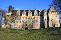 历史的城堡Olesnica在波兰 免版税库存图片